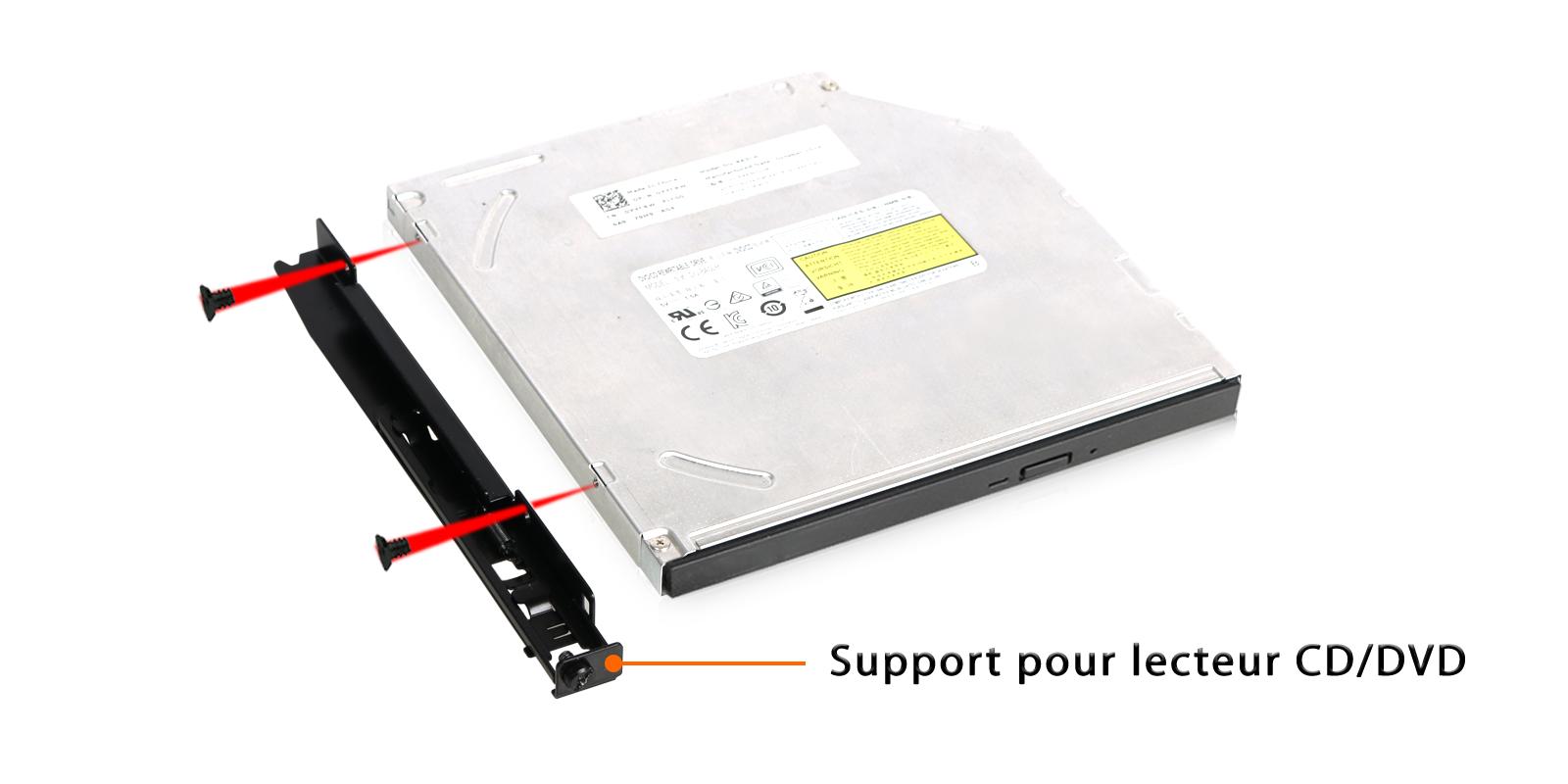 Photo du support pour lecteur CD/DVD inclus dans le MB606SPO-B