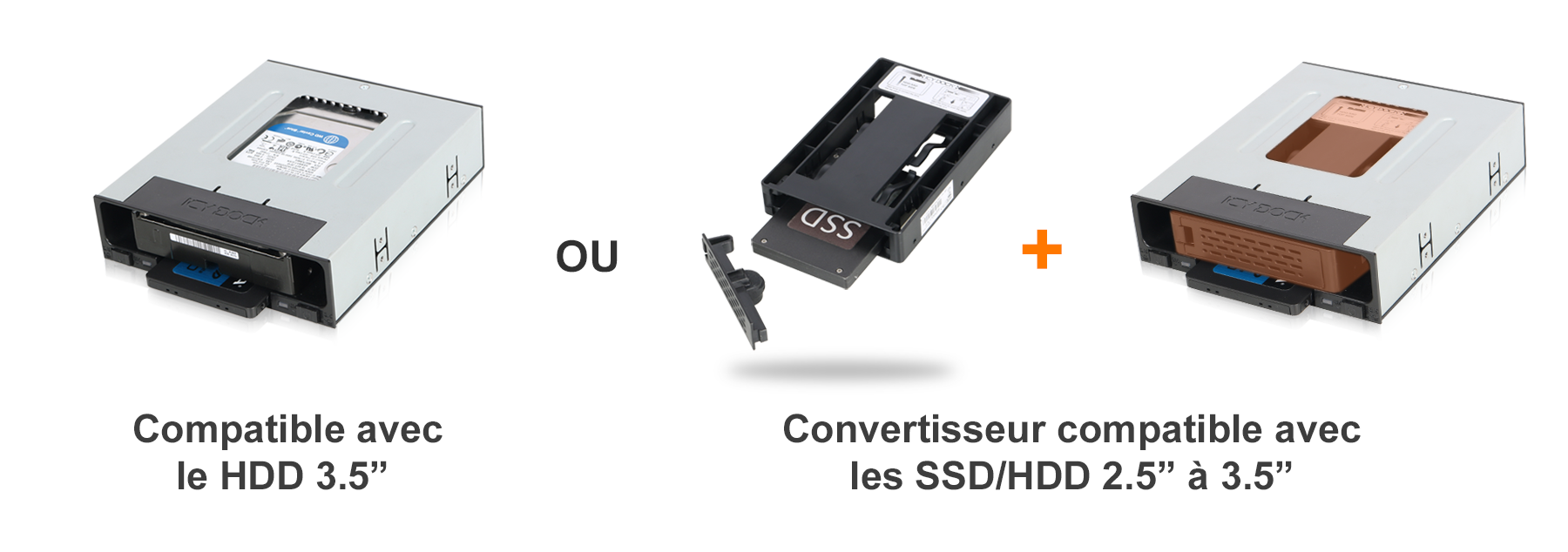 Photo du convertisseur optionnel de SSD/HDD EZConvert MB882SP-3B