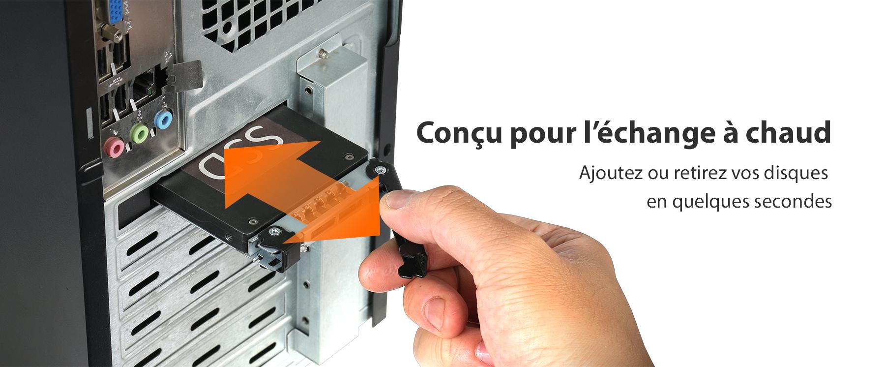 Photo du SSD pouvant être retiré à chaud