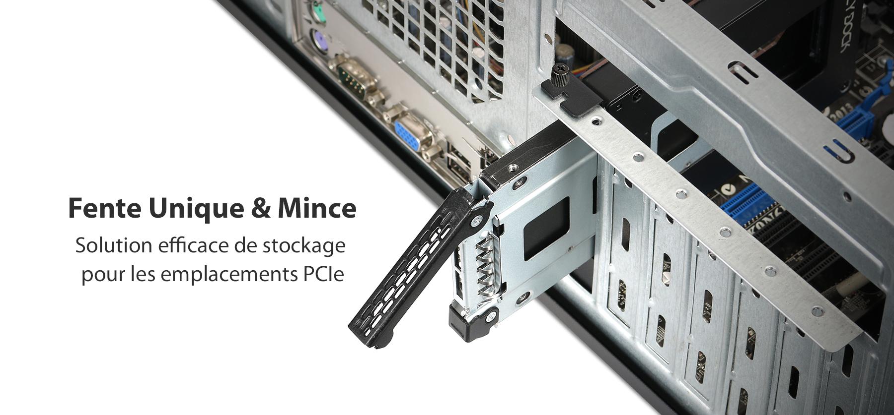 Photo de la fente unique et mince pour les emplacement PCIe